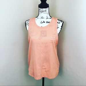 Peach workout tank Body by Cotton On NWOT